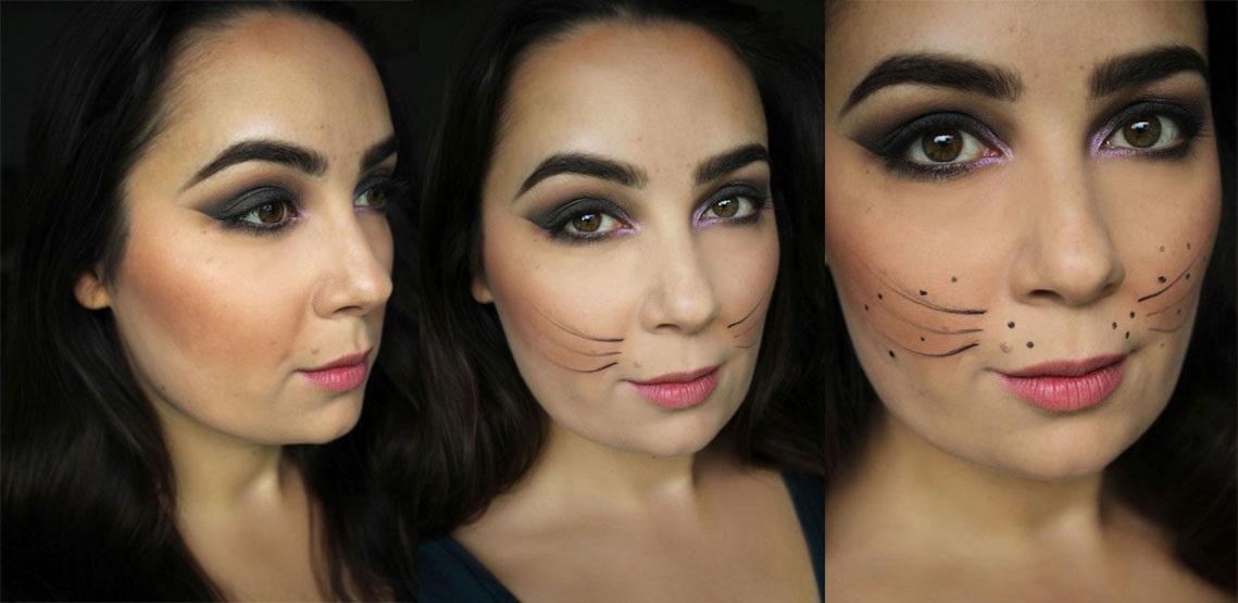 Halloweenské líčení v podobě sexy kočičí ženy - krok za krokem