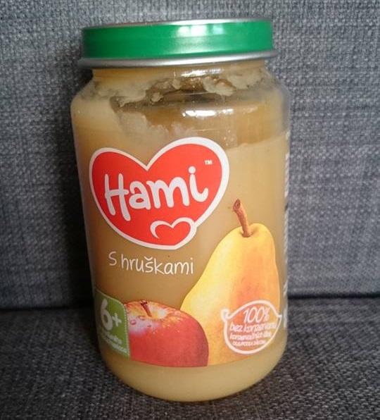 Hruška v podobě ovocné přesnídávky Hami