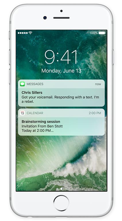 Prostředí iOS 10