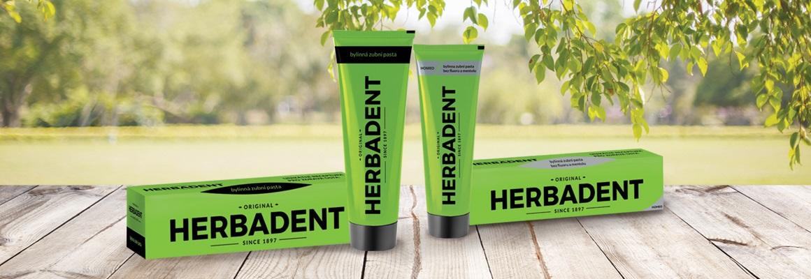 Bylinný přípravky Herbadent v novém obalu