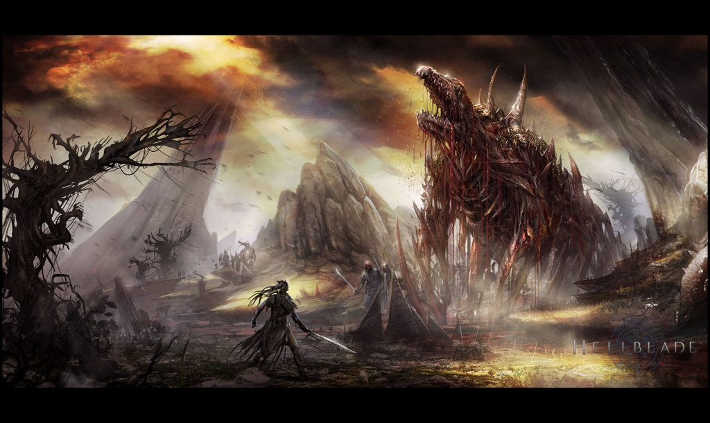 Hellblade: Senua's Sacrifice; Artwork: mapa, peklo