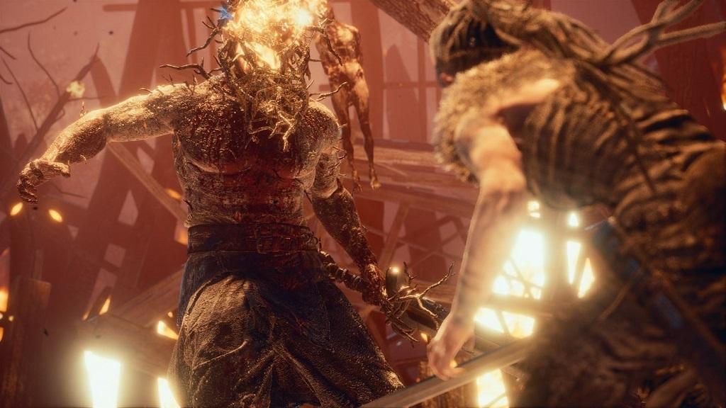 Hellblade: Senua's Sacrifice; Gameplay: Souboj s bossem