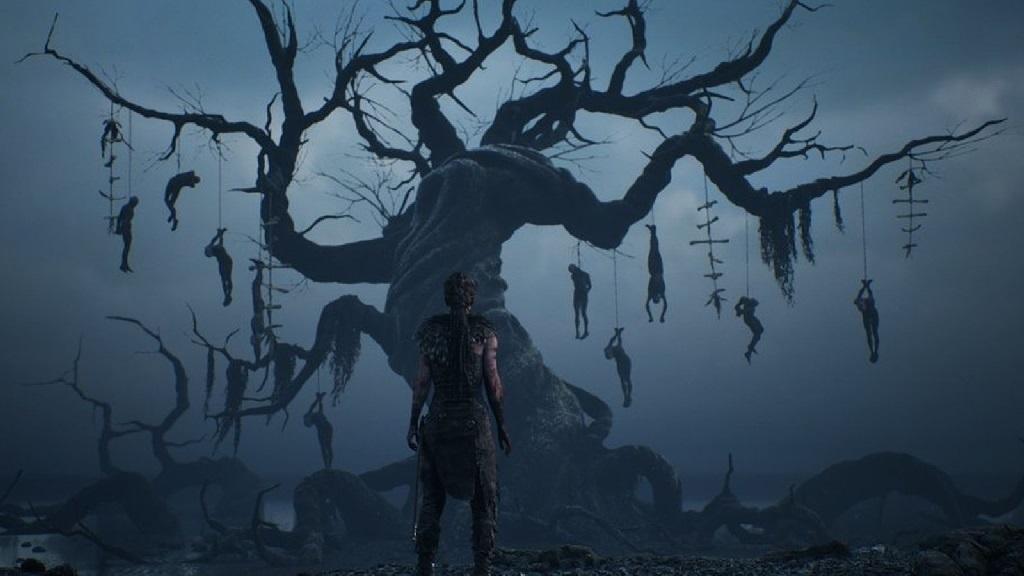 Hellblade: Senua's Sacrifice; Wallpaper: strom smrti
