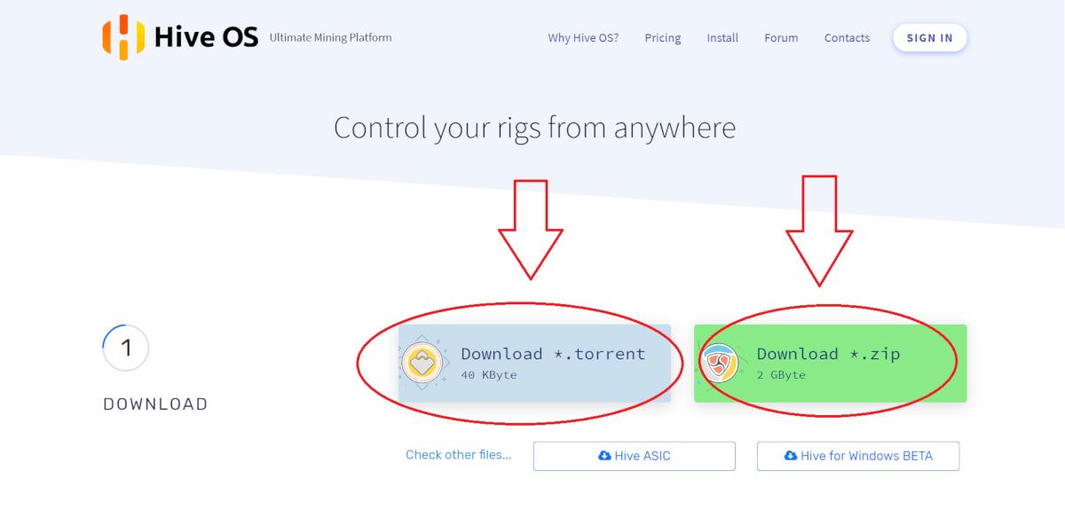 HiveOS; návod; instalace