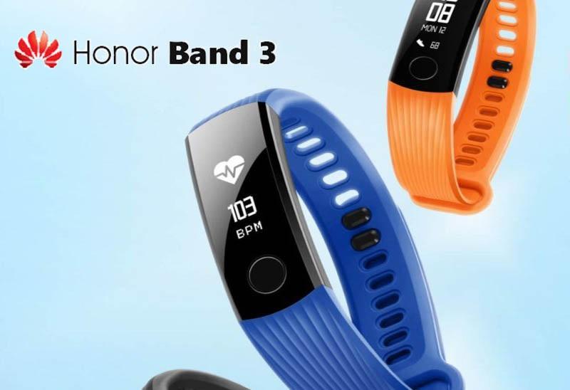 Fitness náramek Honor Band 3 vydrží měsíc na jedno nabití