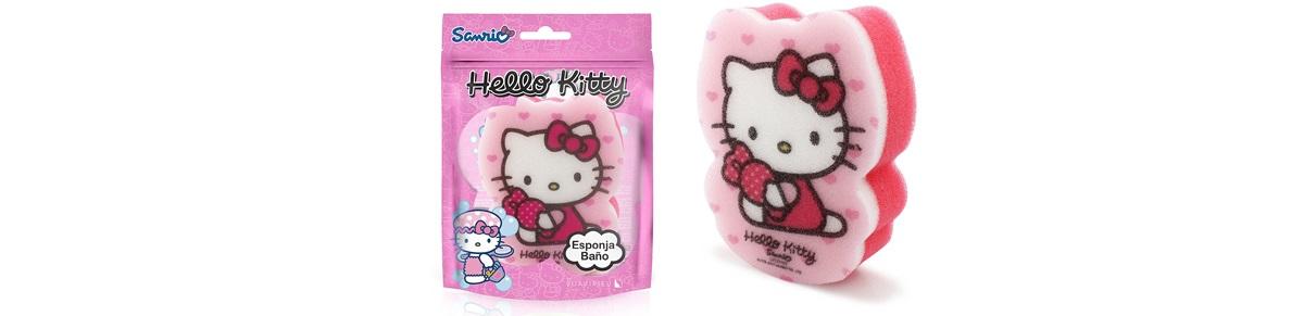 Růžová houbička s Hello Kitty do koupele