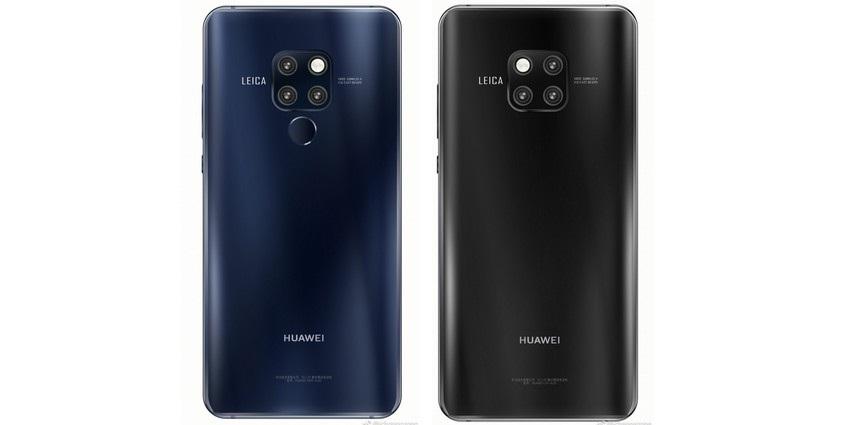 Huawei Mate 20 a Mate 20 Pro, modrá, černá