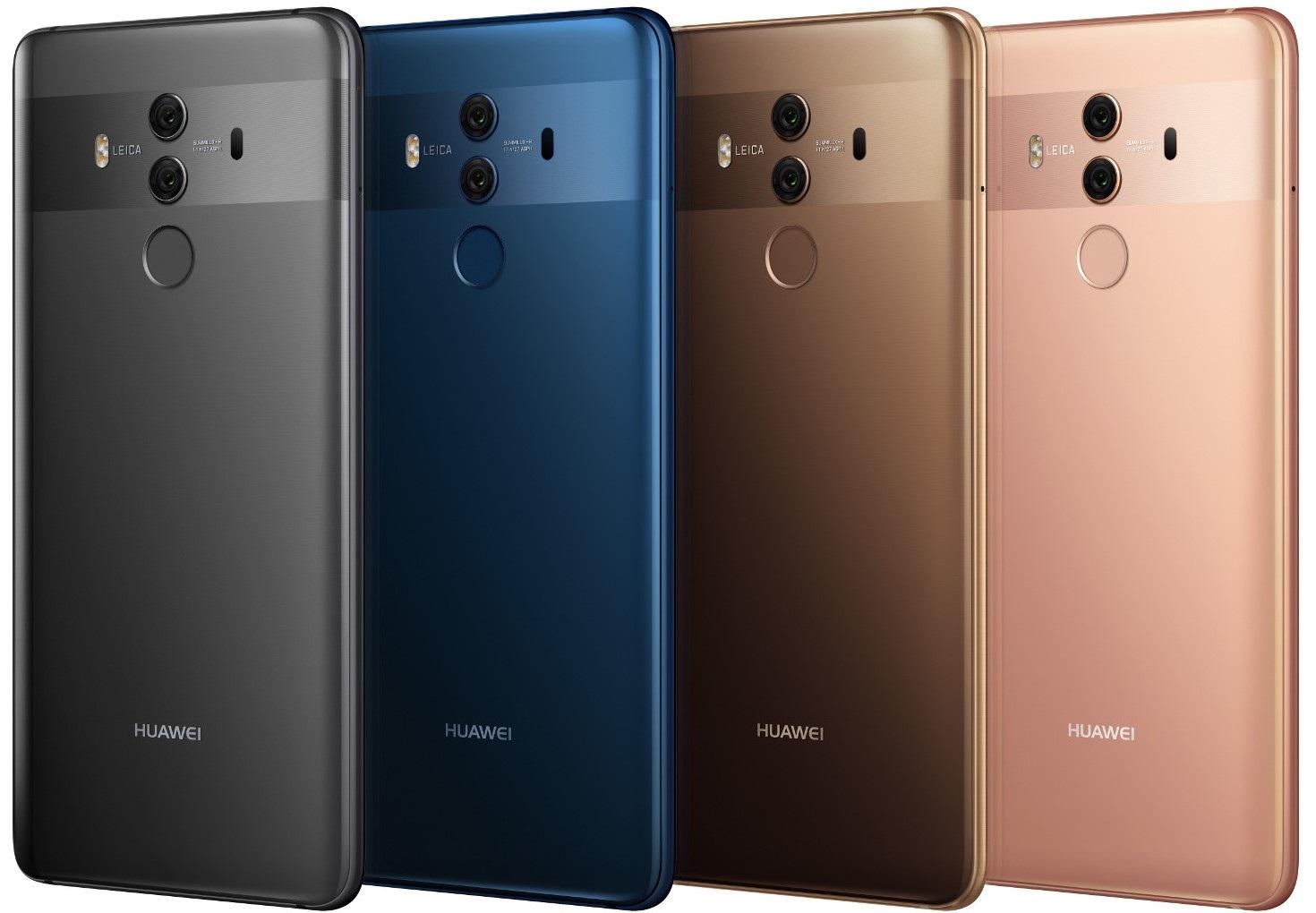 Huawei Mate 10 Pro, barvy