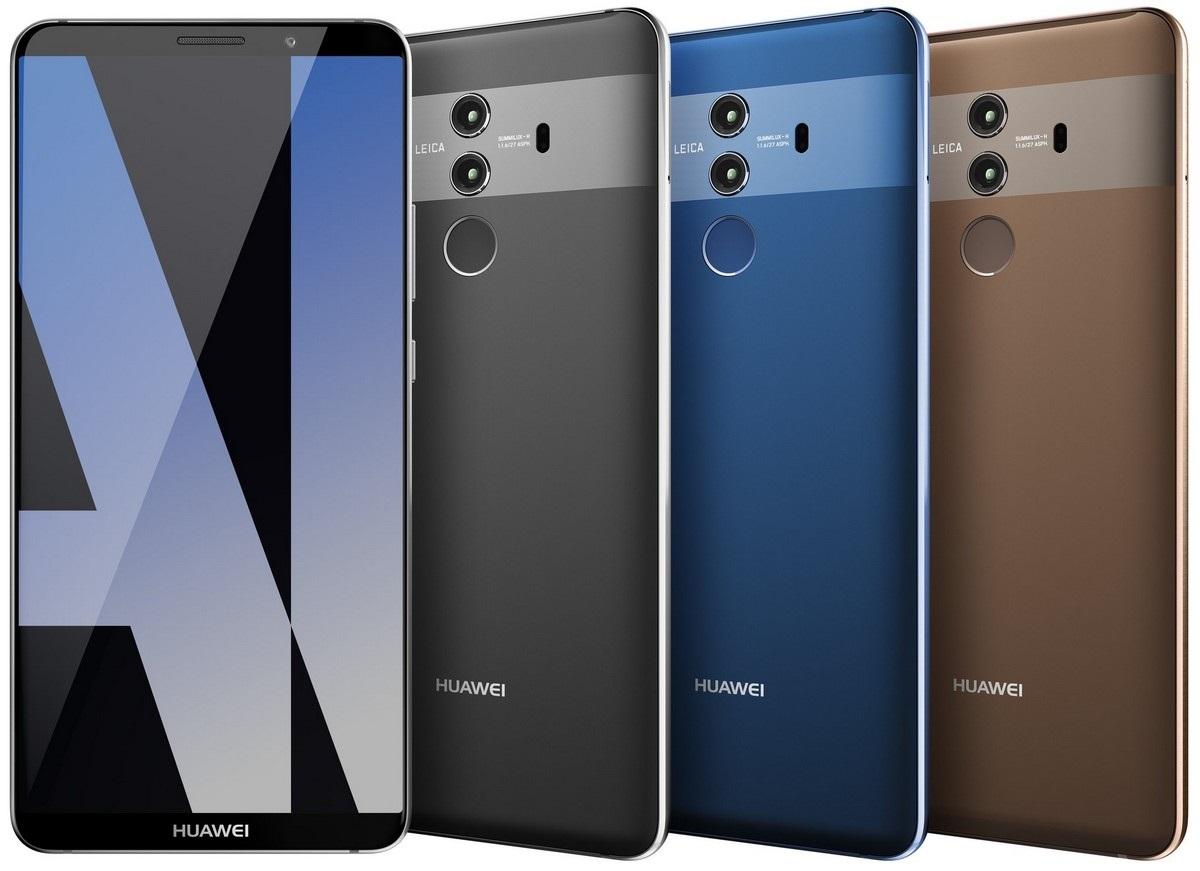 Huawei Mate 10, barevné varianty
