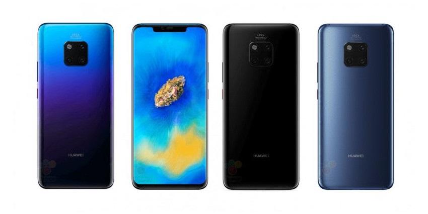 Huawei Mate 20 Pro render barvy