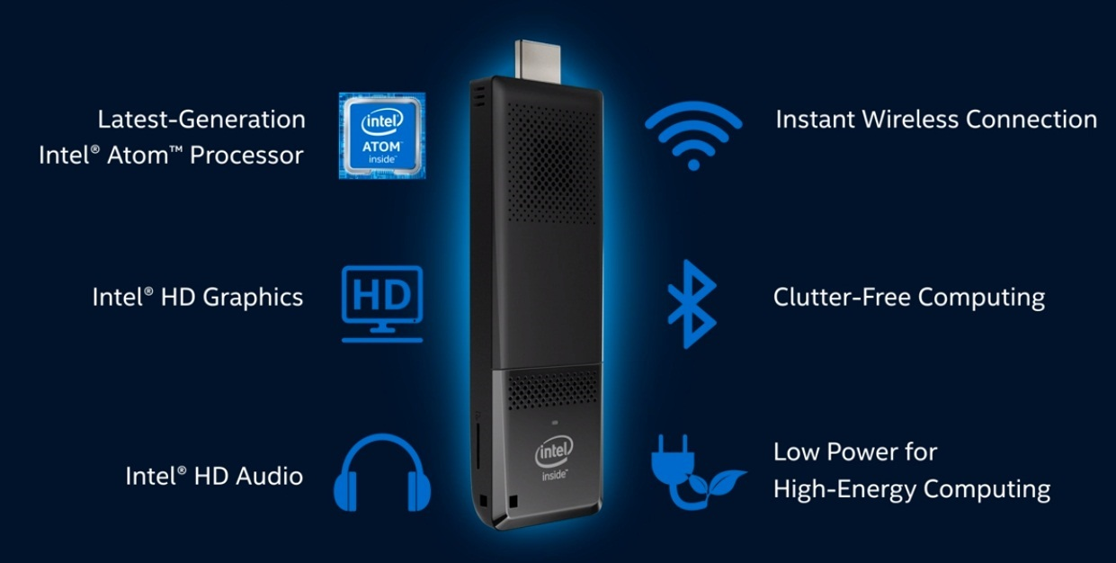 Výbava Intel Compute Stick