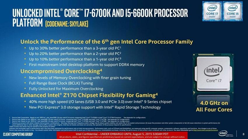 Výkon Intel Skylake