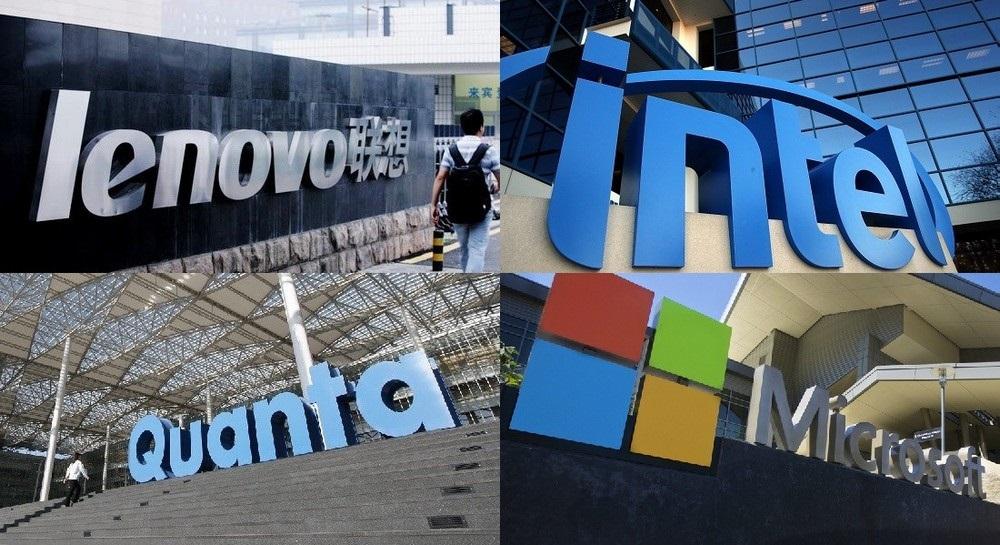 Cesta notebooku - Intel, Microsoft, Lenovo, Quanta Computer