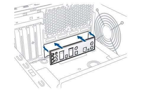 Jak sestavit PC. I/O shield; kryt zadních konektorů základní desky