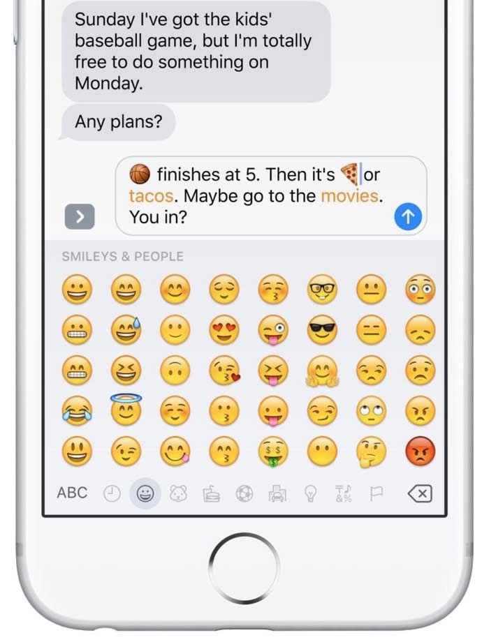 iOS 10 - zprávy plné zábavy