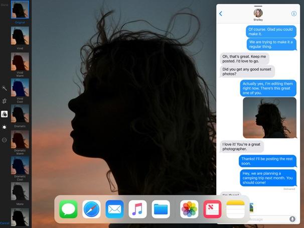 iOS 11, multitasking