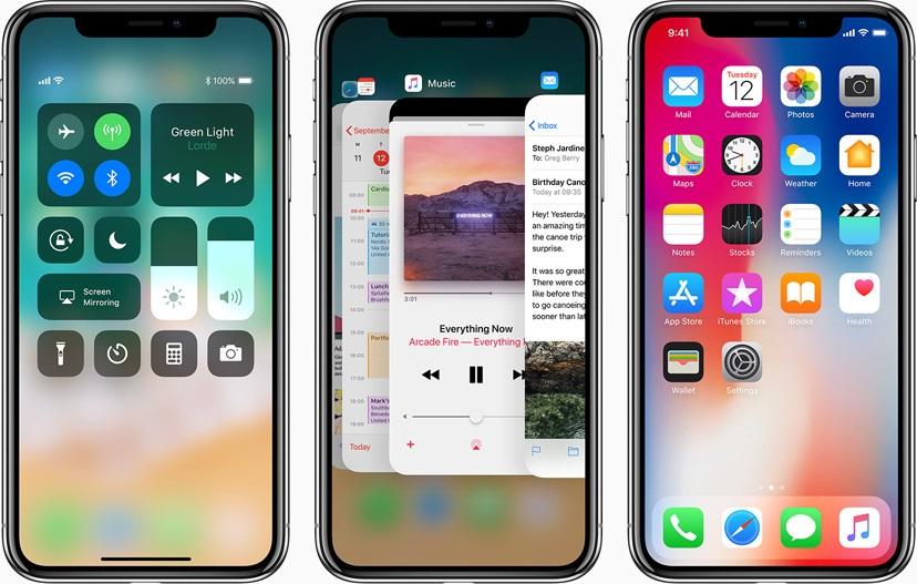 iOS 11, iPhone X