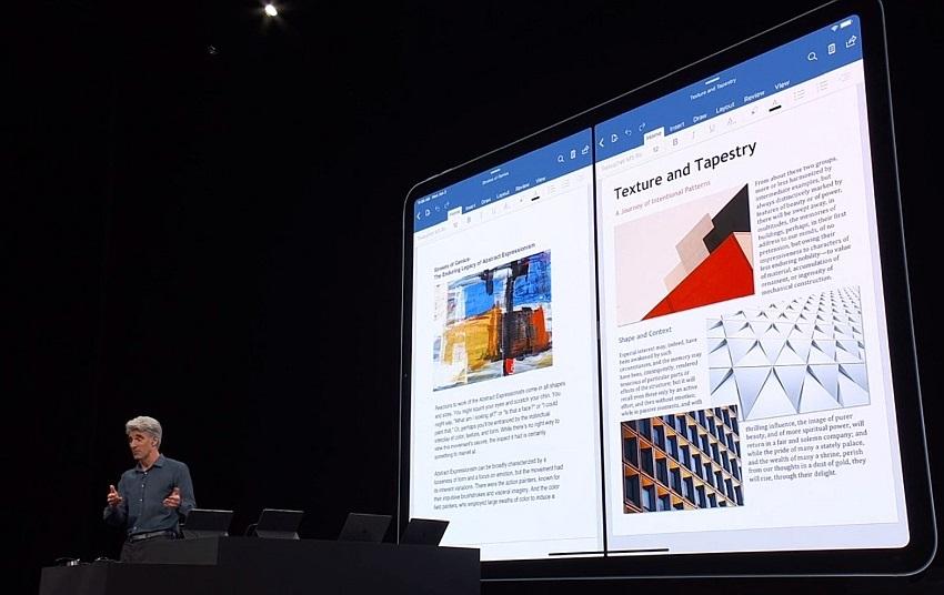 iPadOS Split View