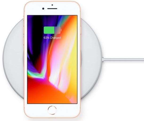 iPhone 8; bezdrátové nabíjení
