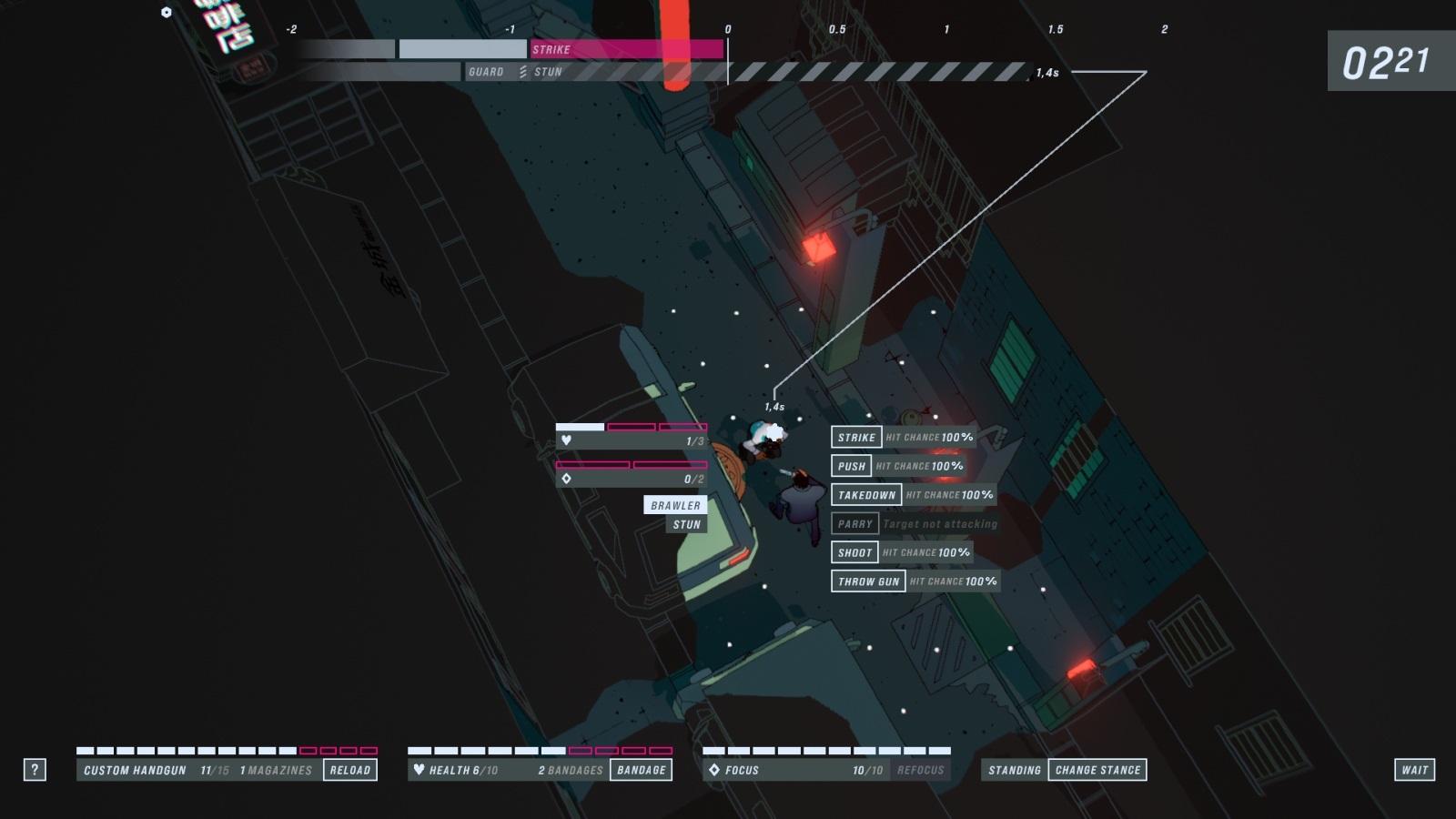 John Wick Hex; gameplay: ulička