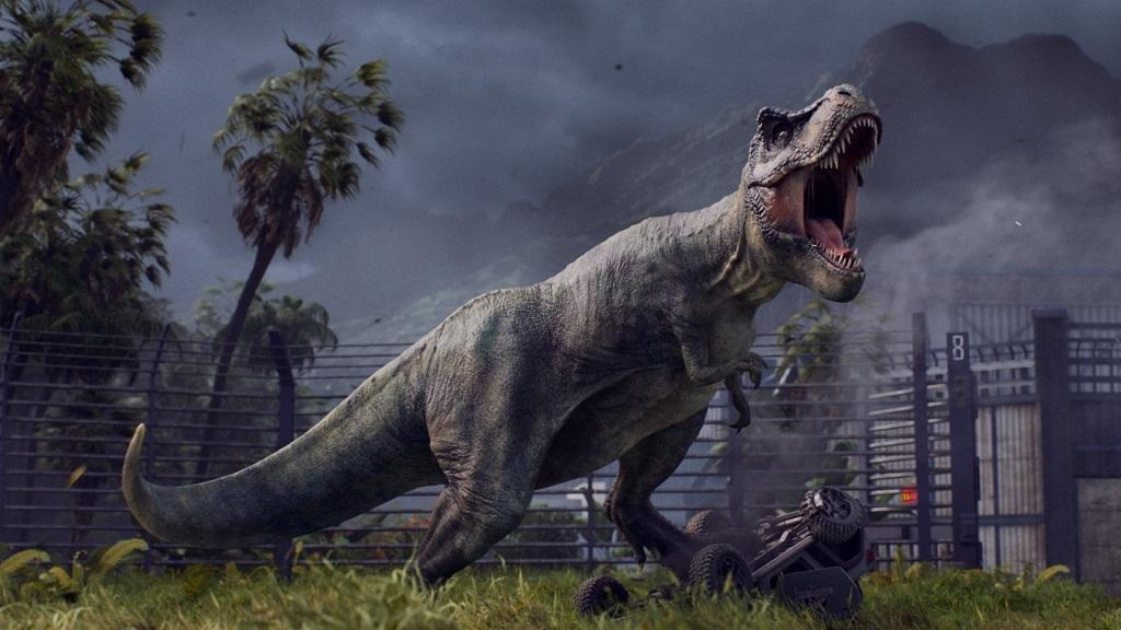 Nejočekávanější hry červen 2018; Jurassic World Evolution, wallpaper, Tyranosaur Rex