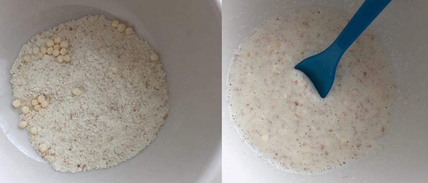 Příprava kaše: v suchém stavu a s mlékem