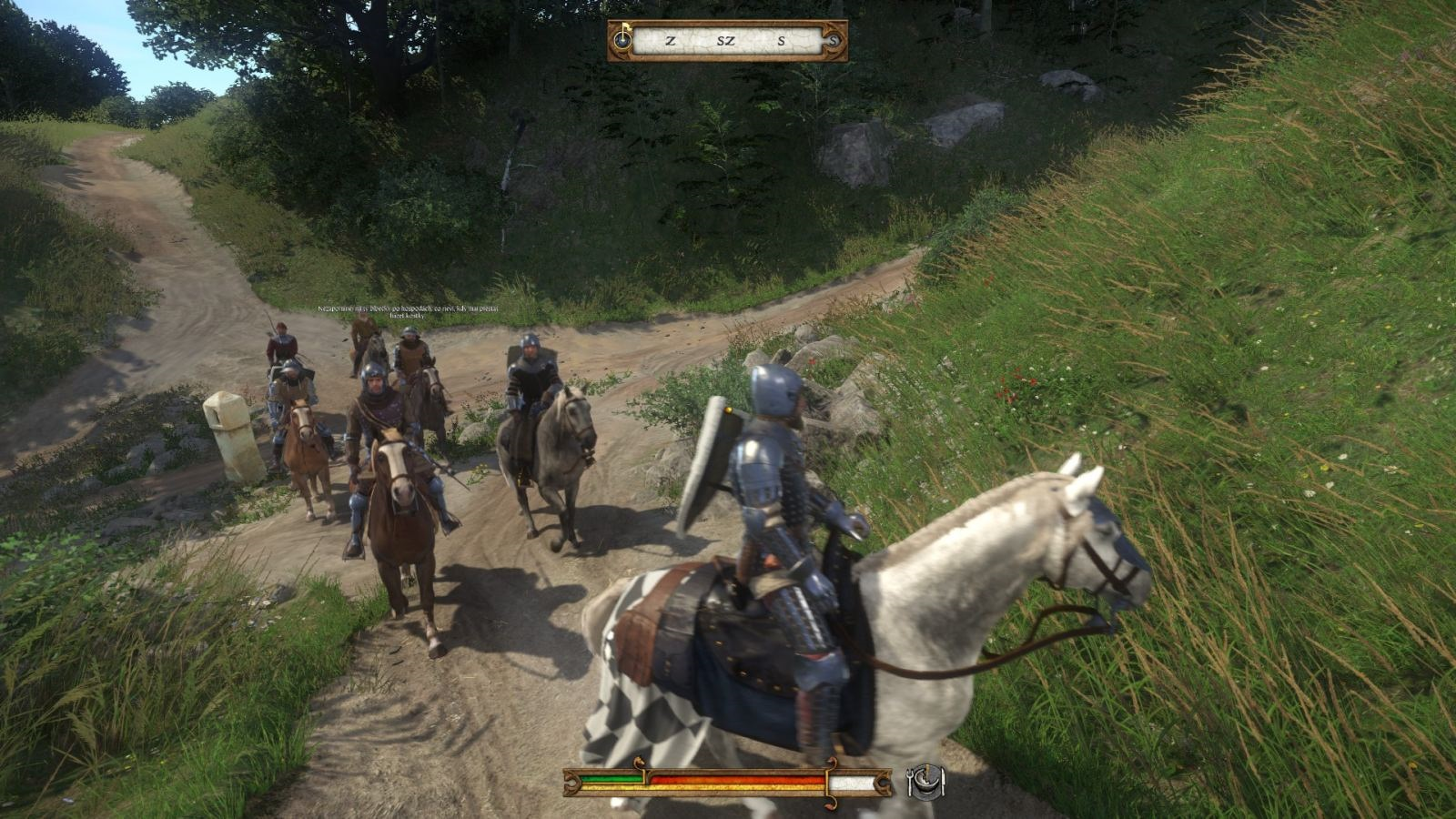 Kingdom Come: Deliverance – Band of Bastards; gameplay: jízda
