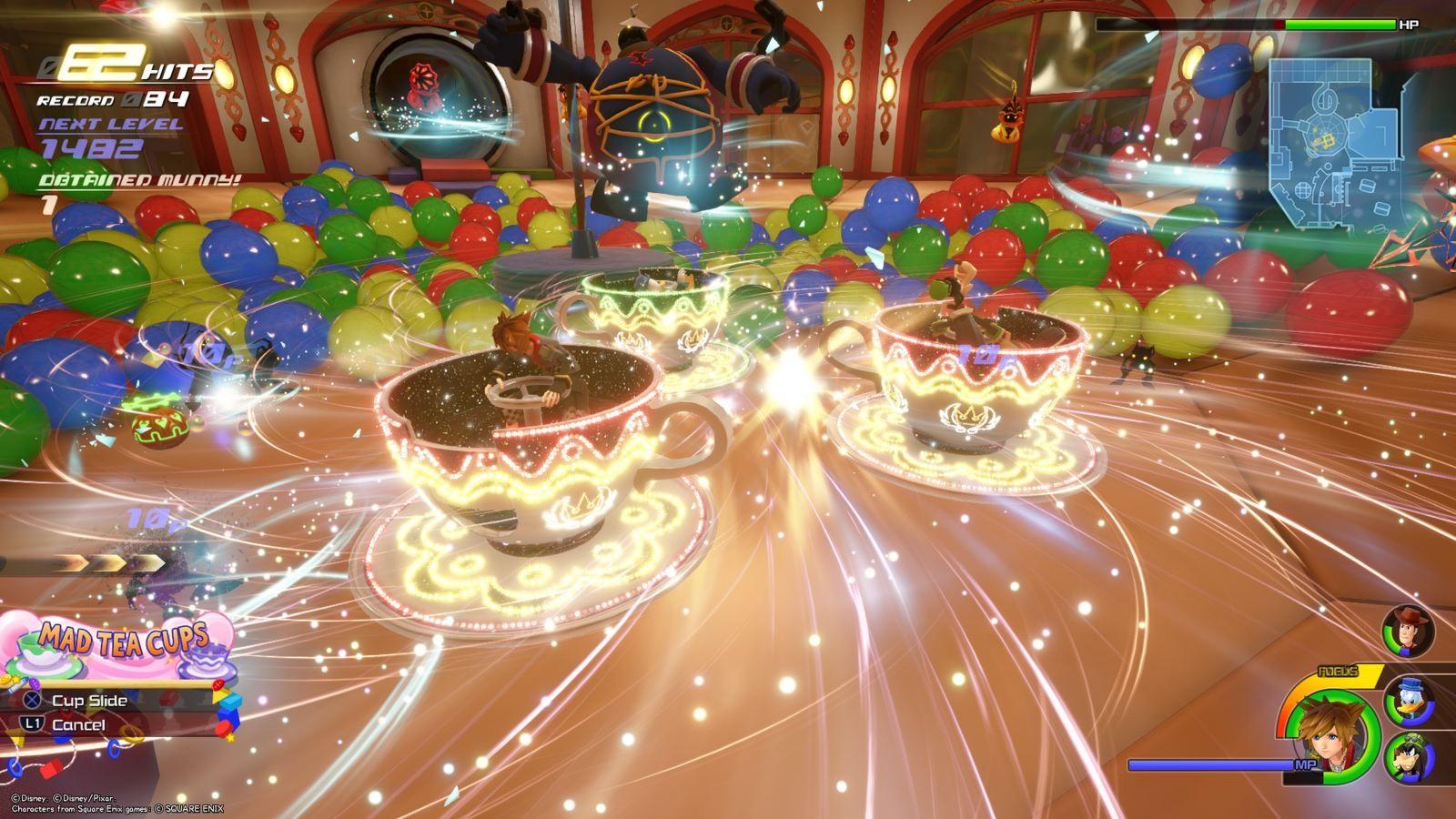 Kingdom Hearts 3; gameplay: hrnky