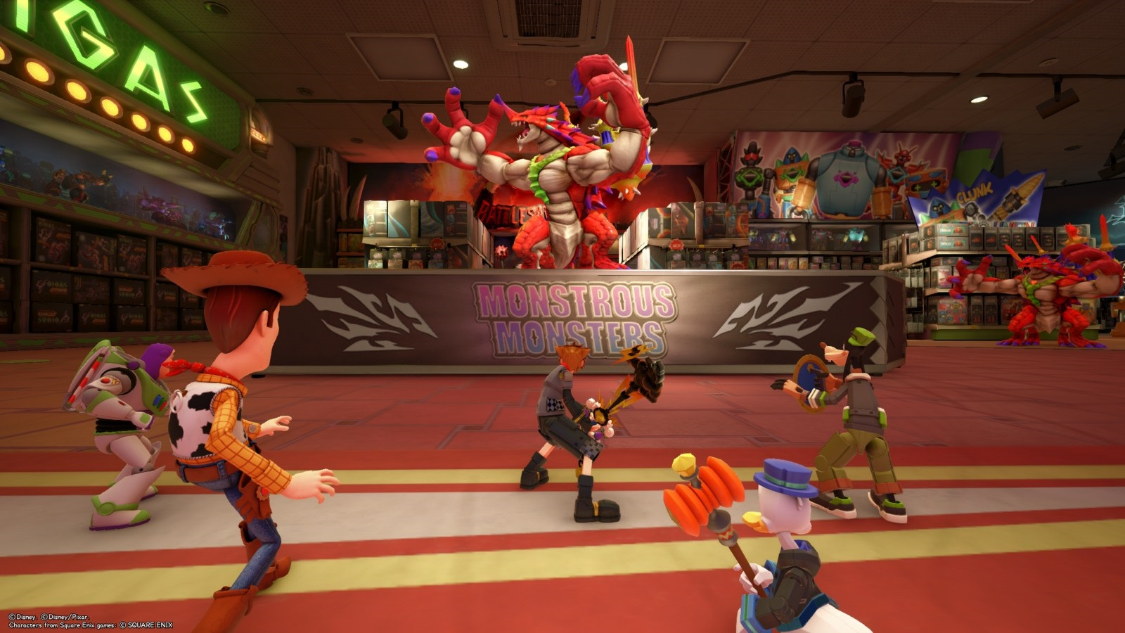 Kingdom Hearts 3; gameplay: ještěrka
