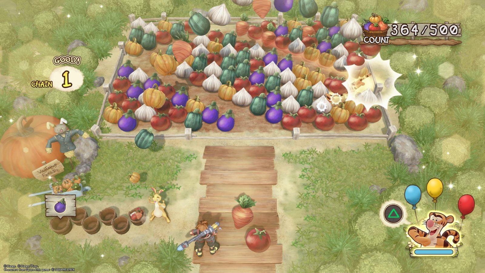 Kingdom Hearts 3; gameplay: spoj tři