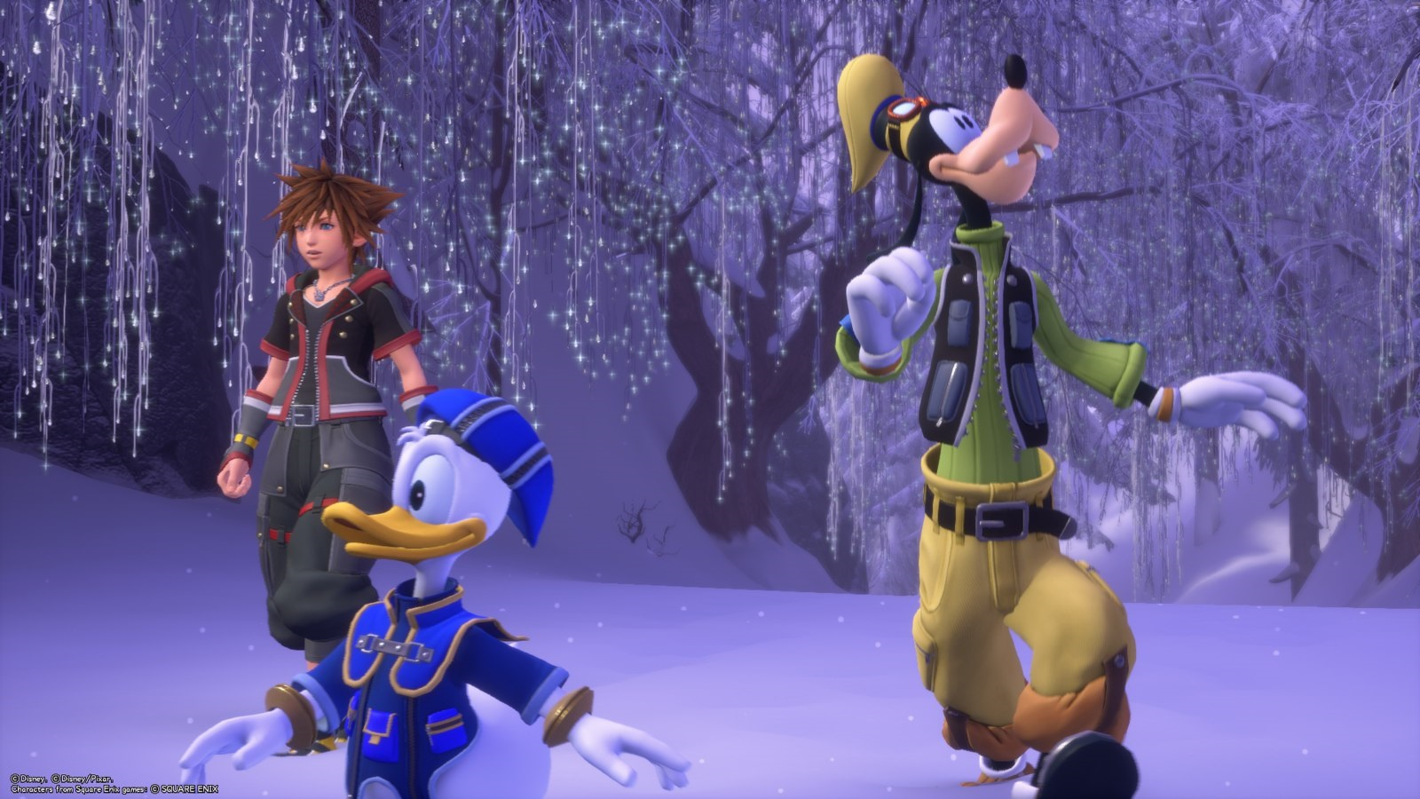 Kingdom Hearts 3; screenshot: trojice