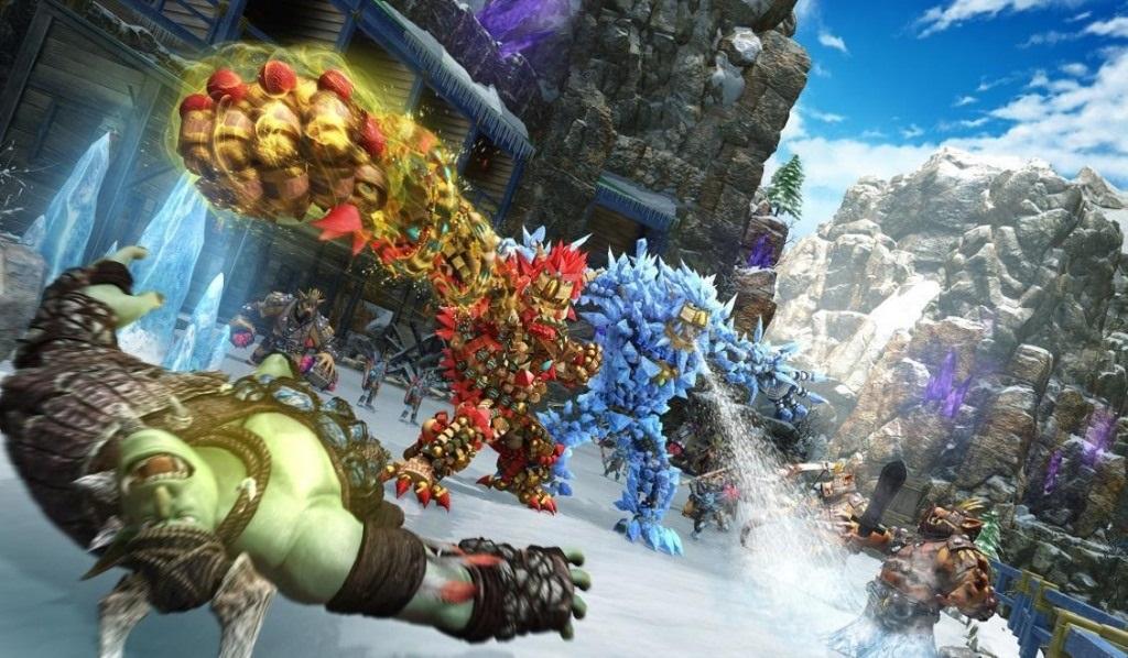 Knack 2; Wallpaper: hrdinove, nepritel, goblin, souboj, utok, multiplayer