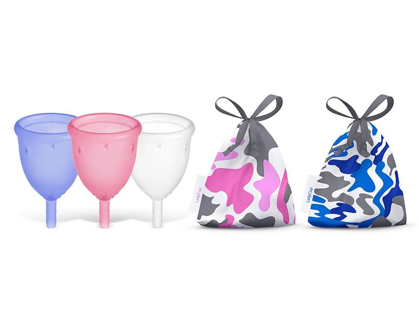 Menstruační kalíšky LadyCup různých barev a velikostí
