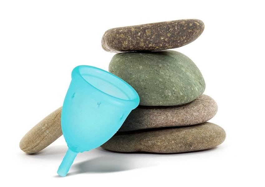 Varianta modrého kalíšku LadyCup