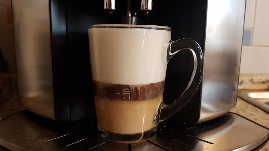 Výběr nápoje latte