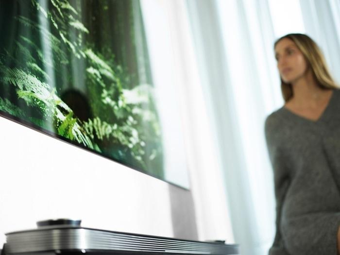 LG OLED TV Pohled z úhlu