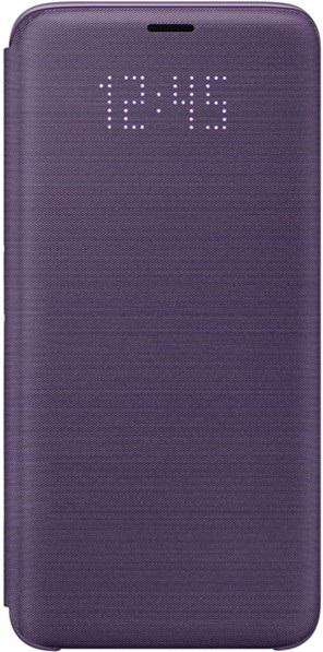 Led View Cover, Samsung Galaxy S9, fialový, zavřený