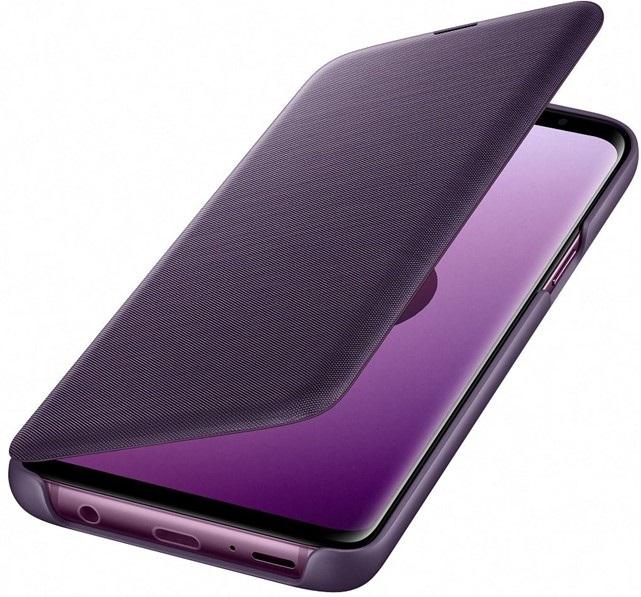 Led View Cover, Samsung Galaxy S9, fialový, klip
