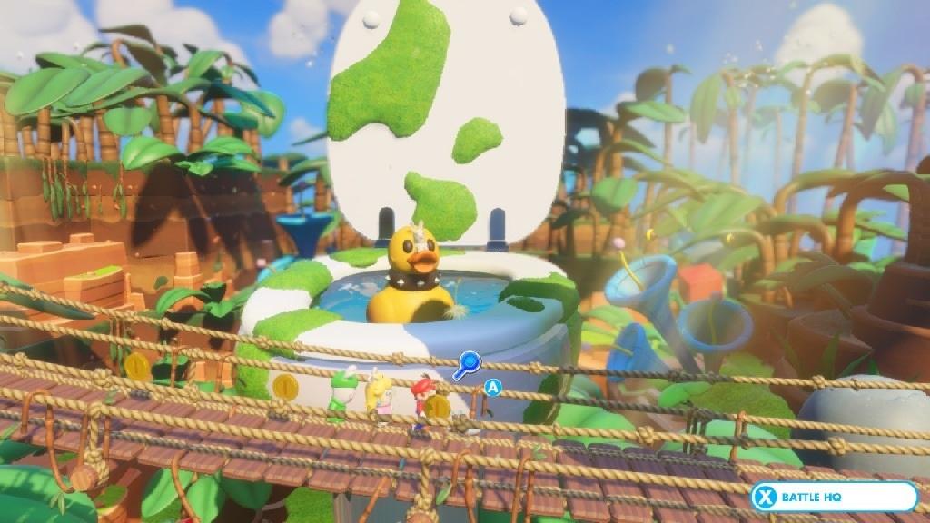 Mario + Rabbids Kingdom Battle; Gameplay: Obří toaleta s kachničkou