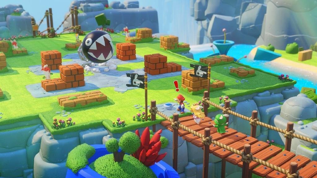 Mario + Rabbids Kingdom Battle; Wallpaper: Mario a spol. vs Chain Chop