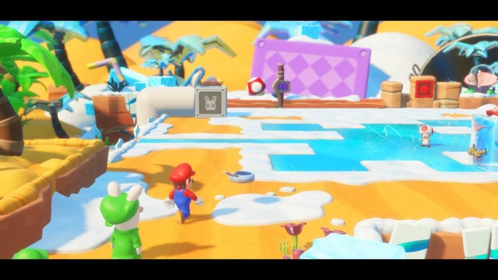 Mario + Rabbids Kingdom Battle; Gameplay: Puzzle