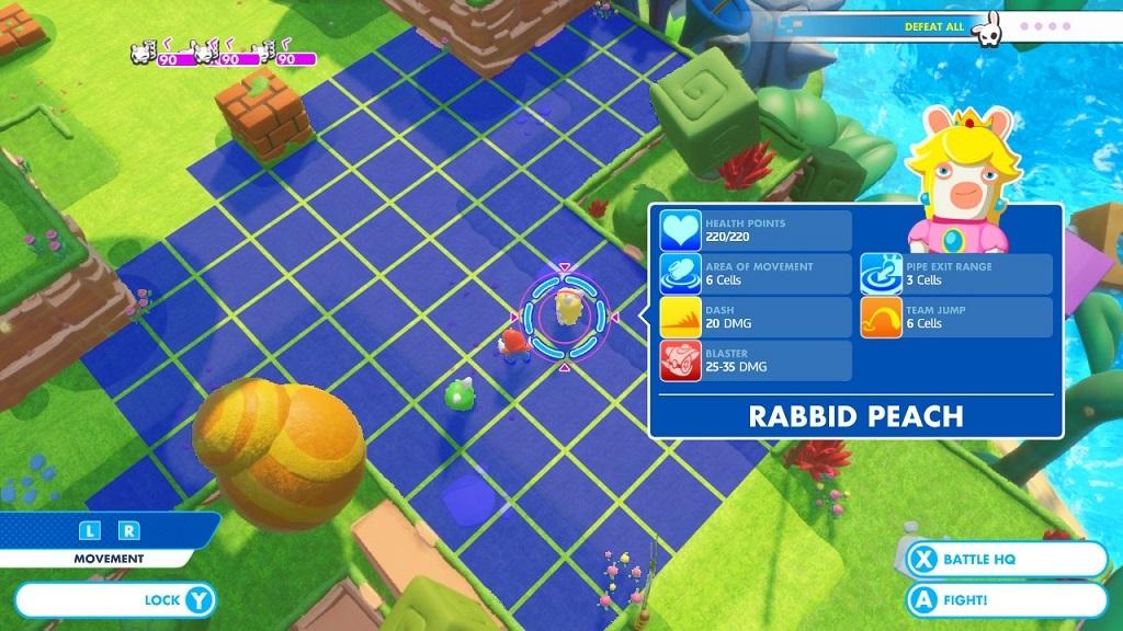 Mario + Rabbids Kingdom Battle; Gameplay: taktický režim