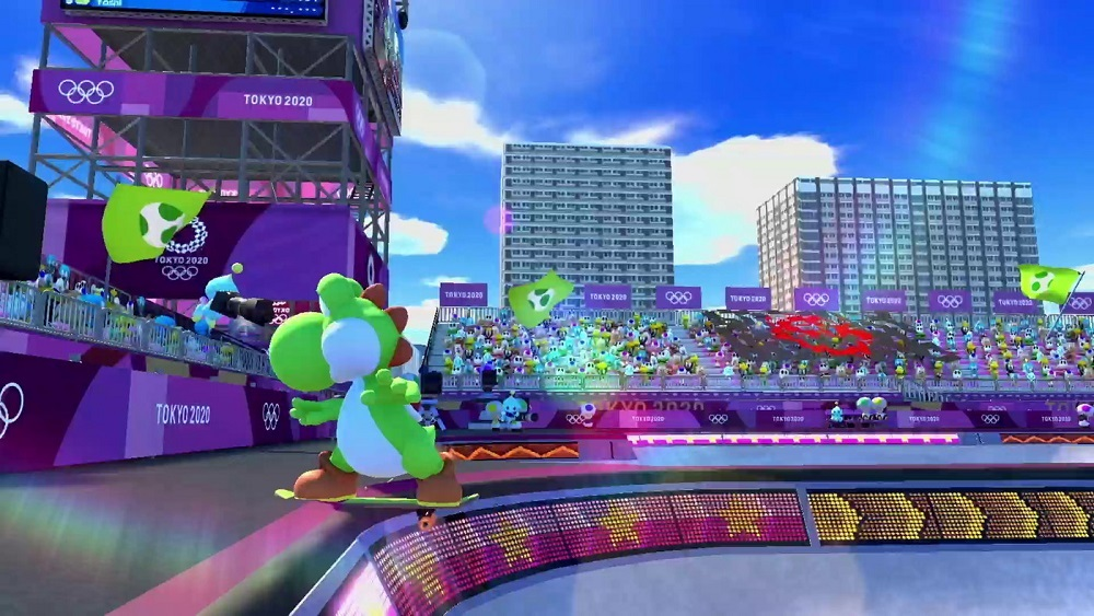 Mario & Sonic at the Olympic Games: Tokyo 2020; screenshot: skateboarding