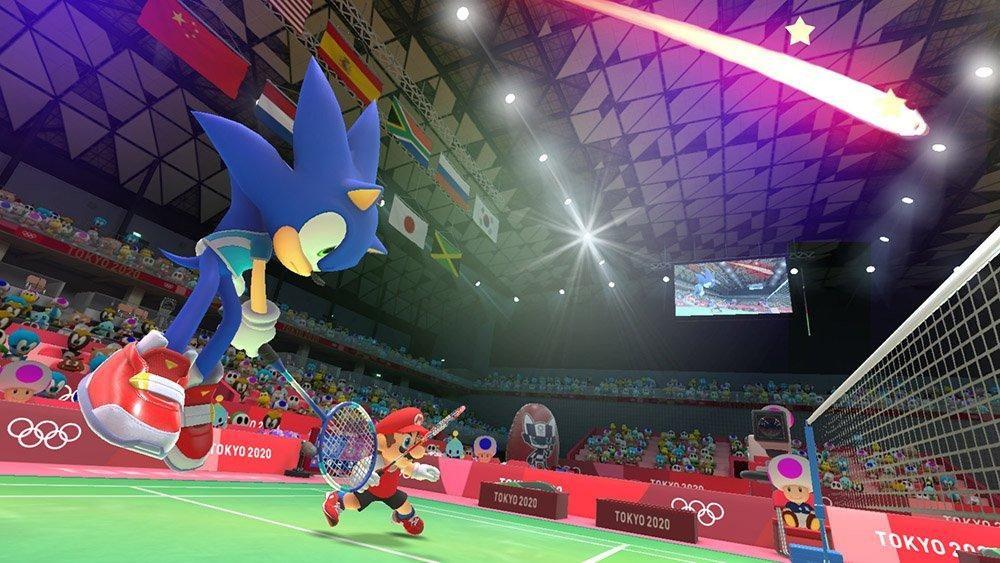 Mario & Sonic at the Olympic Games: Tokyo 2020; screenshot: tenis