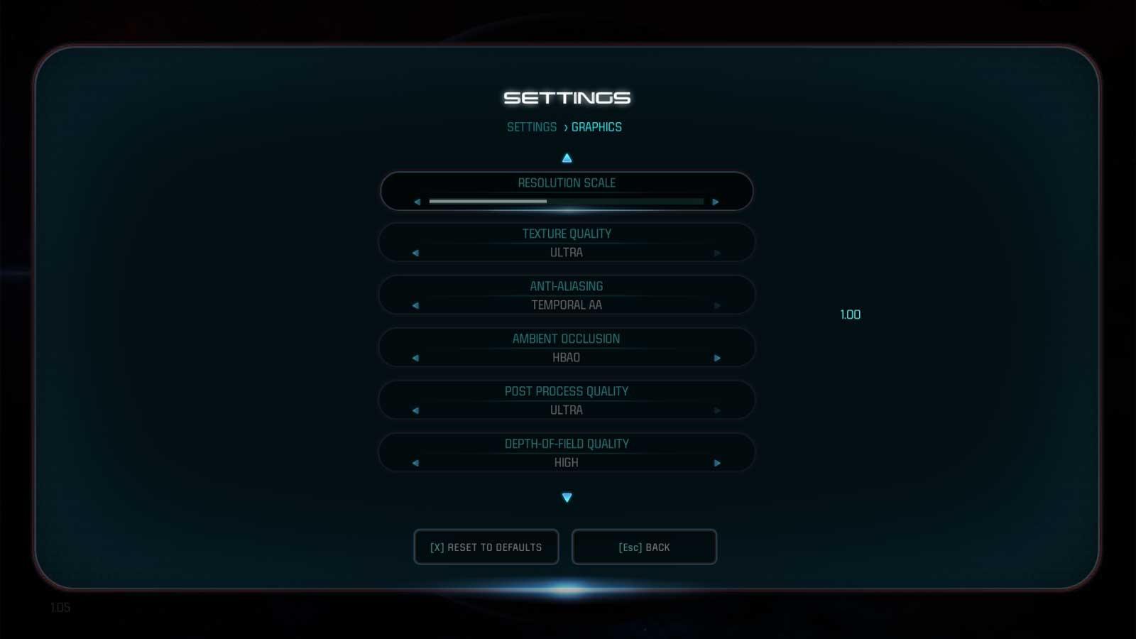 Mass Effect: Abdromeda nastavení 3