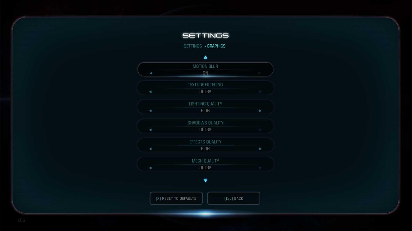 Mass Effect: Andromeda nastavení 4