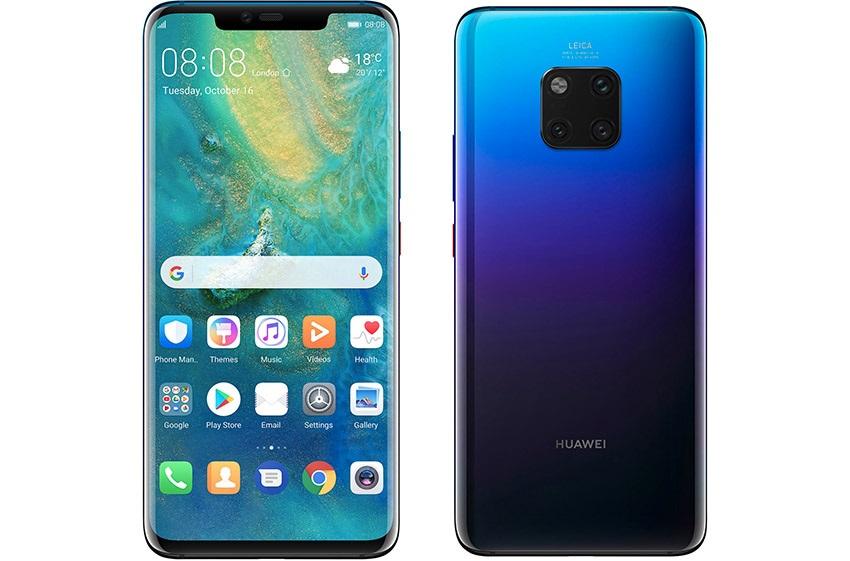 Huawei Mate 20 Pro, fialová