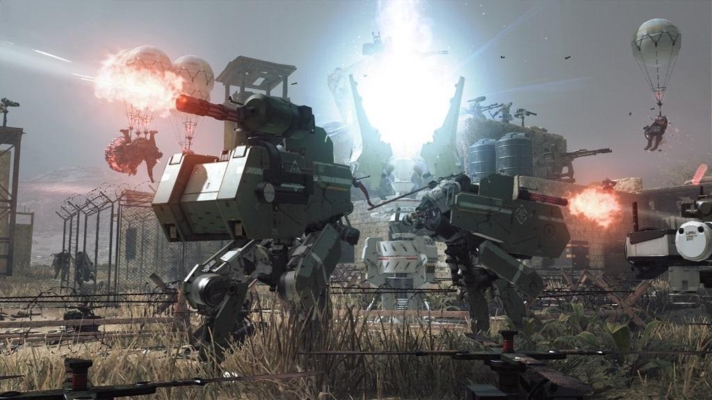 Metal Gear Survive: mech battle
