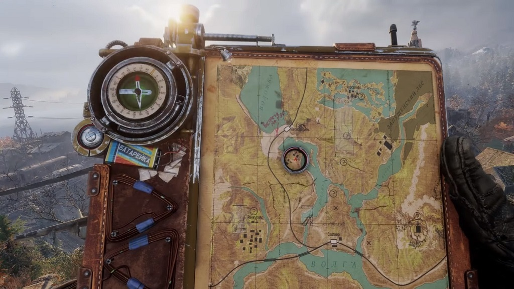 Metro Exodus; Gameplay: mapa