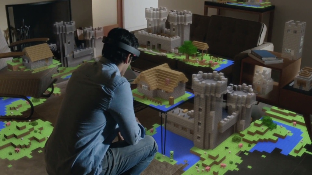 Xbox Two project Scarlett; screenshot: HoloLens Minecraft